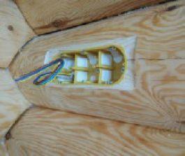 Электротехнические изделия KOPOS в деревянном строительстве