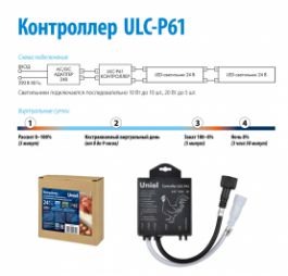 Контроллер ULC-P61 для управления светильниками для птицеводства ULY-P