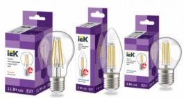Светодиодные филаментные лампы серии 360° IEK® - угол рассеивания света 360° и высокая светоотдача