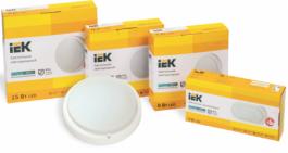 Новые модели светодиодных светильников ДПО 4001-4200D IEK®: цветовая температура 6500 К и инфракрасный датчик движения