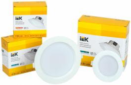 Новинка IEK Lighting – светодиодные даунлайты ДВО 1701-1704 IEK® со встроенным драйвером