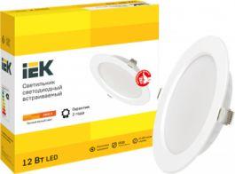 Светодиодные даунлайты ДВО 1611-1613 IEK® – встроенный драйвер для удобного монтажа и доступная цена