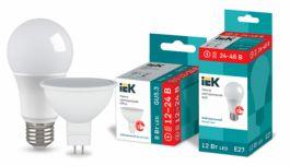 Низковольтные светодиодные лампы IEK® - для сетей 12-24 / 24-48 В постоянного и переменного тока